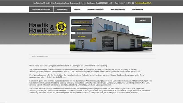 Webdesign Augsburg für Schädlingsbekämpfer