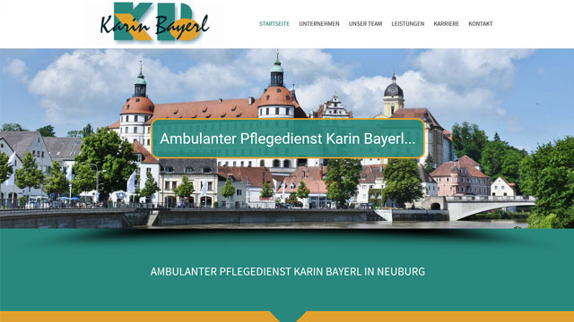 Webdesign Augsburg für Krankenpflege