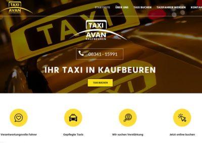 Taxi Avan – Taxiunternehmen in Kaufbeuren