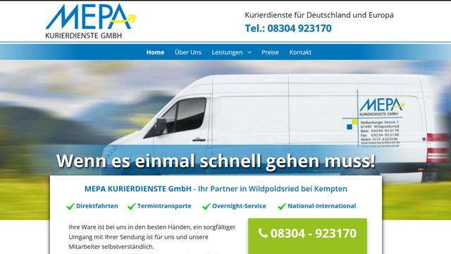 Webdesign Augsburg für Transportunternehmen