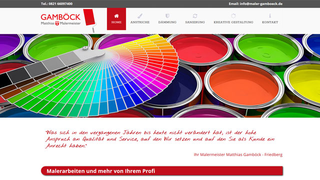 Webdesign Augsburg für Handwerker Maler Lackierer