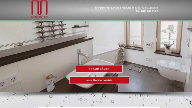 Webdesign Augsburg für Sanitär Klempner
