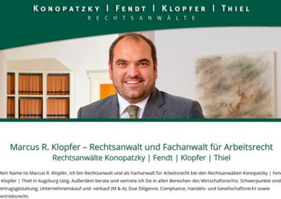 Marcus R. Klopfer – Rechtsanwalt und Fachanwalt für Arbeitsrecht – Augsburg