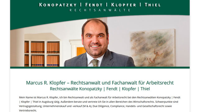 Webdesign Augsburg für Anwälte