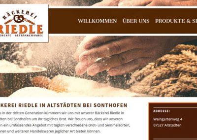 Bäckerei Riedle in Altstädten bei Sonthofen