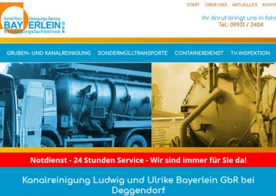Kanalreinigung Ludwig und Ulrike Bayerlein GbR bei Deggendorf