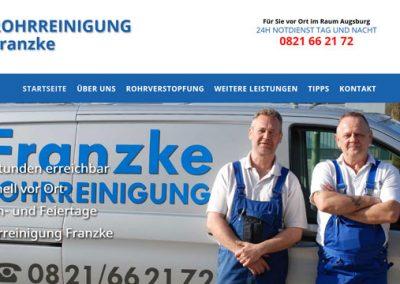 Franzke Rohrreinigung in Augsburg