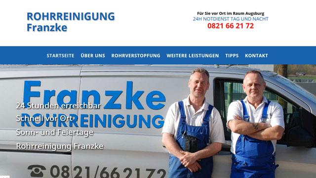 Webdesign Augsburg für Rohrreinigung Klempner