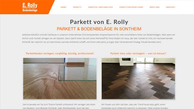 Parkett Und Bodenbelage Rolly In Sontheim Webdesign Augsburg