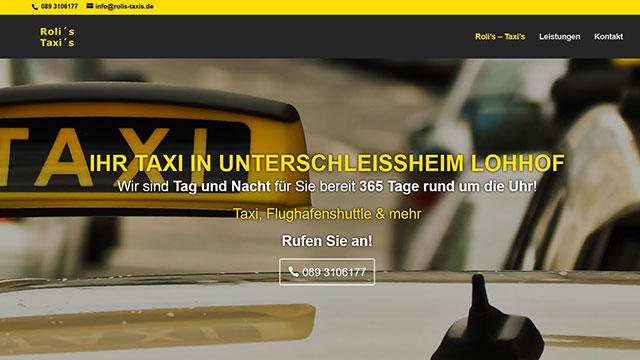 Homepage erstellen lassen Unterschleissheim | Webdesign für Taxiunternehmen