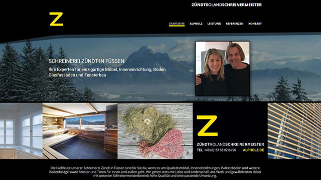 Homepage erstellen lassen Füssen