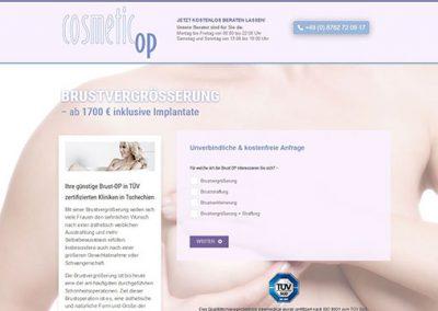 Landingpage – newmedical GmbH – Vermittlung von Schönheitsoperationen