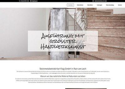 faig GmbH – Steinmetzbetrieb in Rain am Lech